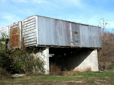 Railroad boxcars used at Allen elevator