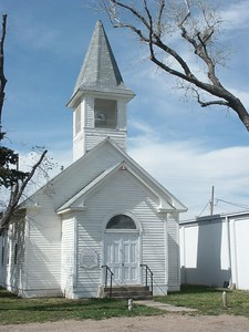 Church at Edwards County Museum - Kinsley