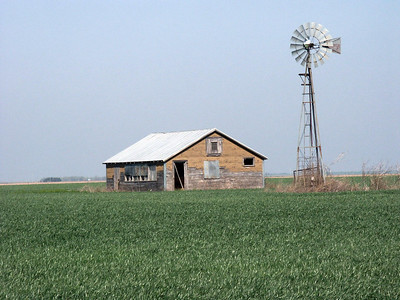 Barn & windmill - Northwest Edwards County