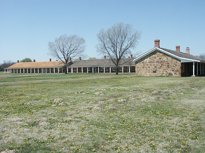 Shops Building and Barracks buildings
