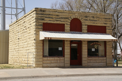 Limestone city building in Hanston