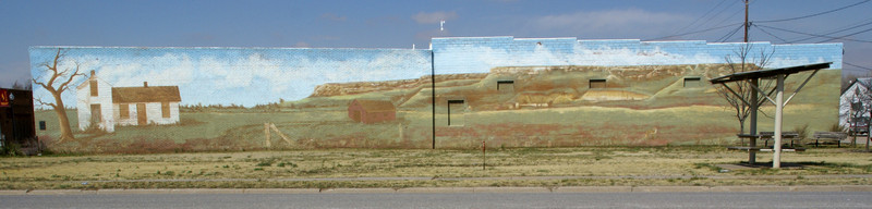 Sawlog Creek / Point of Rocks Mural in Jetmore