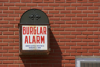 Burglar Alarm on building in Jetmore