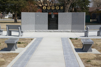 Veteran's Memorial with POW / MIA memorial in Jetmore