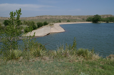 Lake Scott Dam and spillway