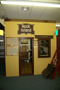 Rock Island Depot Display at Meade County Museum in Meade