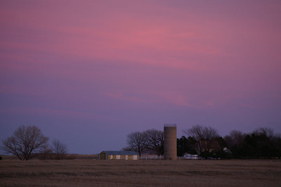 Last light over Reno County farm