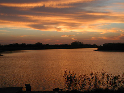 Sunset at Chisholm Creek Park - Wichita