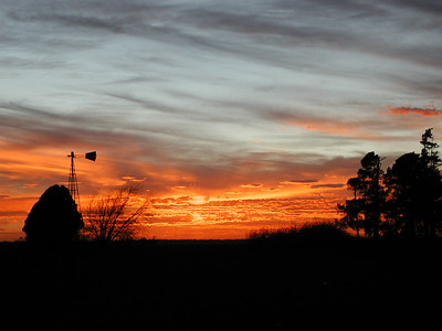 December Sunset Northwest Sedgwick County