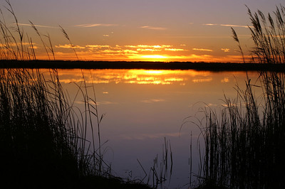 Sunset over Little Salt Marsh - Quivira National Wildlife Refuge