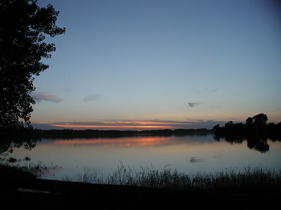 Last light at Santa Fe Lake - Butler County