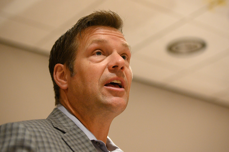 Kansas State University hosts Kris Kobach, former Kansas secretary of state. Mr. Kobach discusses the impeachment inquiry, illegal immigration and campus conceal and carry. Oct 7, 2019. (Dylan Connell | Collegian Media Group)