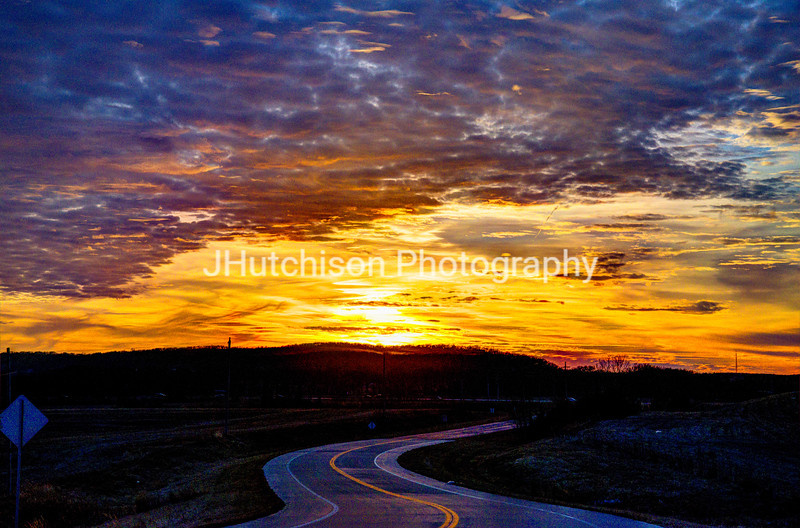 Winding Road Into the Sunset