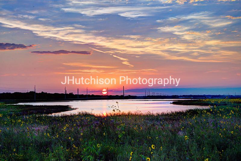 September Sunrise Over the Baker Wetlands
