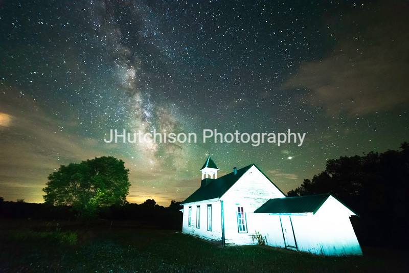 Milky Way Over Acorn Schoolhouse