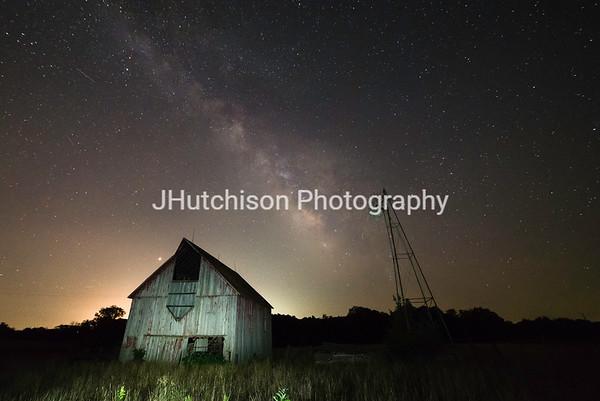 Milky Way Over Kentucky Road Barn