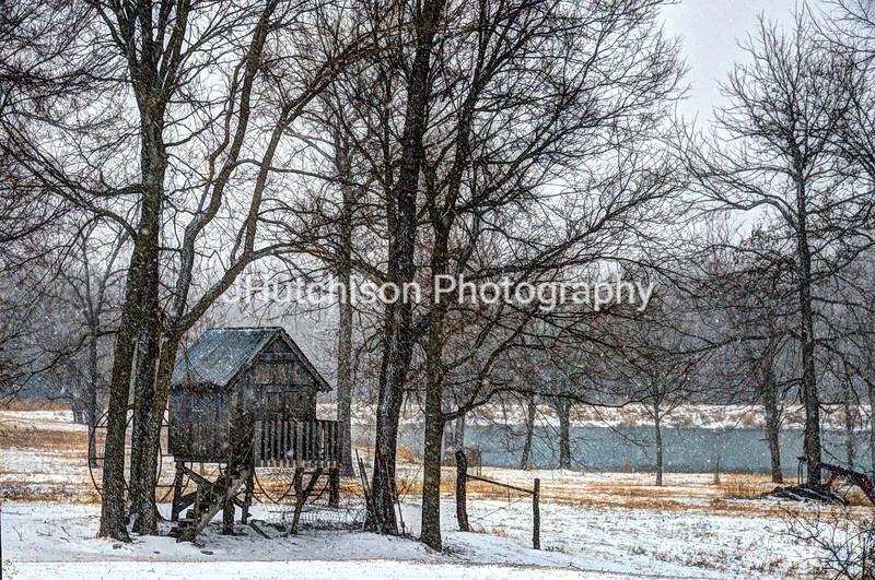 Snowy Day on the Farm