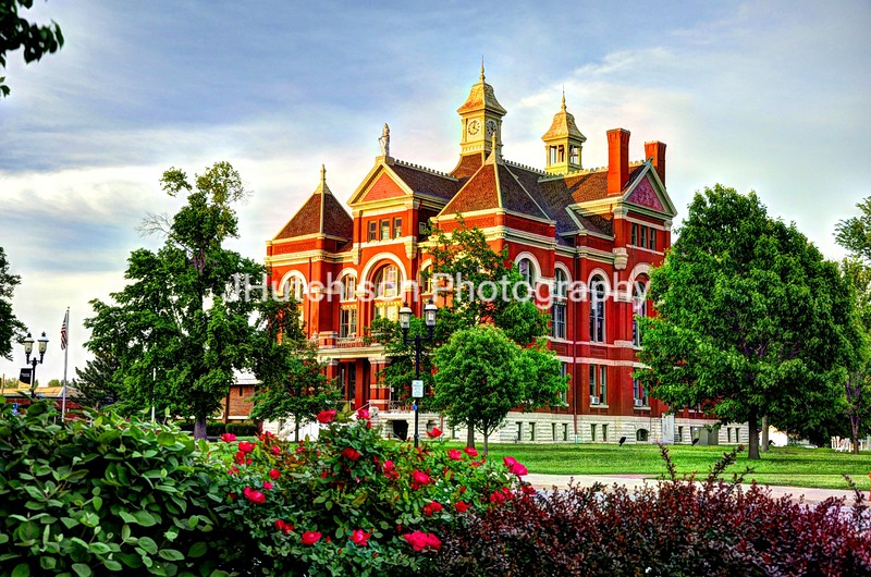 Franklin County Courthouse Through the Roses