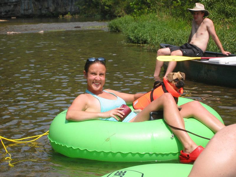 BA & Annie's float trip.