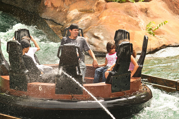 Frontier City in Oklahoma City, Oklahoma 'Shooting' the people on the water ride.