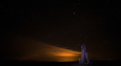 Teter Rock Under Jupiter and Orion