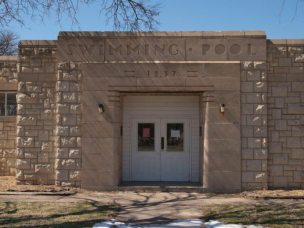 I love these old WPA buildings.  The font just makes it look glamorous.