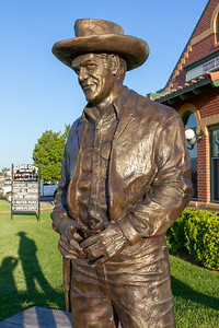 Sculpture in Dodge City