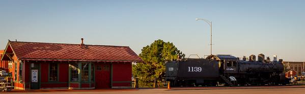 Steam Locomotive and Depot in Dodge City, Kansas