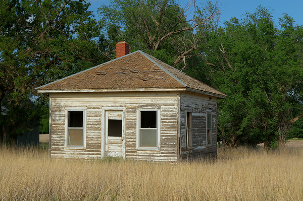 An old abandoned home in Kansas.