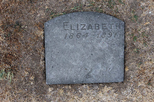 <center>Elizabeth. Alone, forgotten, but for this marker. She was 27 years old.</center>