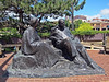 Clementine Churchill  and Sir Winston Leonard Spencer-Churchill<br /> Ward Parkway & Wornall Road, in The Plaza.