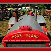 """The """"Rock Island"""" tractor was made around 1928 and very few of them have survived. This nice entrant shows off the distinctive gray and red paint scheme that was an easy identifying mark. The maker of these, The Heider Company was bought by Case soon after this model was produced."""