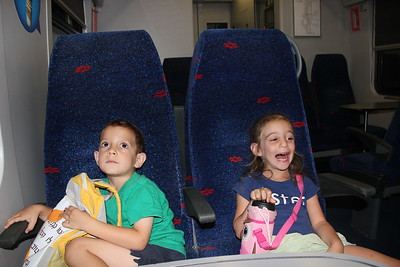 Daniel and Heally to Natbag by train