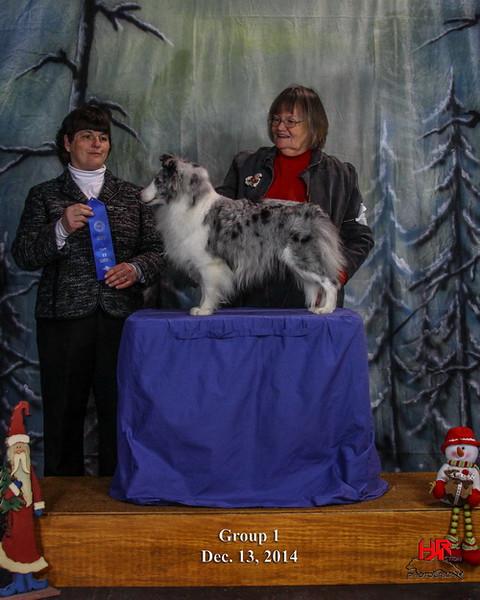 GRCH Karashome The Ice Maiden<br /> judge - Linda Reece