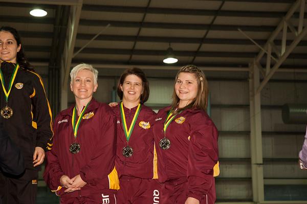 Womens Team Kata Podium
