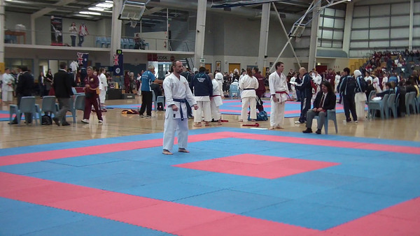I had a bye in the first round, this is 2nd round. Cameraman missed Robert's Kata.
