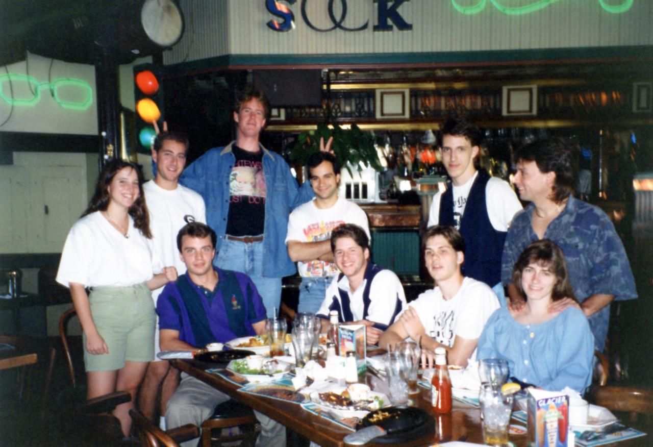 October 1993 Front row: Eric, John, Sean, Barb Back Row: Kimberly, Sheldon, Brian, Jim, Todd, Roger