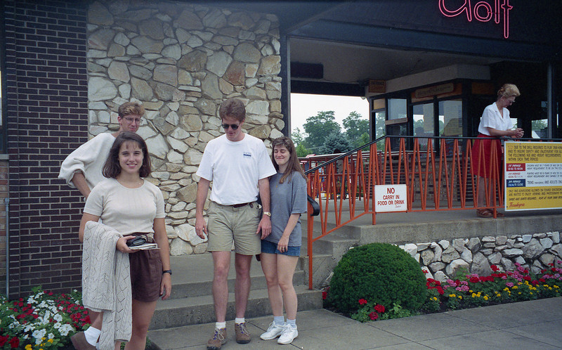 July 8, 1994 Par-King Mini golf Lincolnshire, IL<br /> Chris, Kimberly, Brian, and Barb