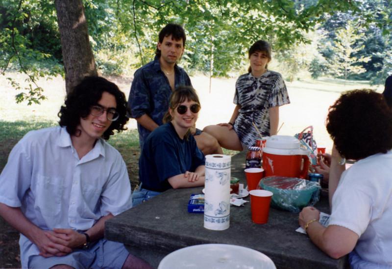 August picnic 1993<br /> Shy, Cheryl, Roger, Barb, Leslie