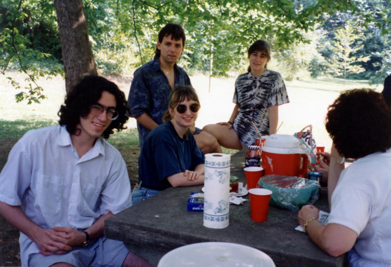 August picnic 1993 Shy, Cheryl, Roger, Barb, Leslie
