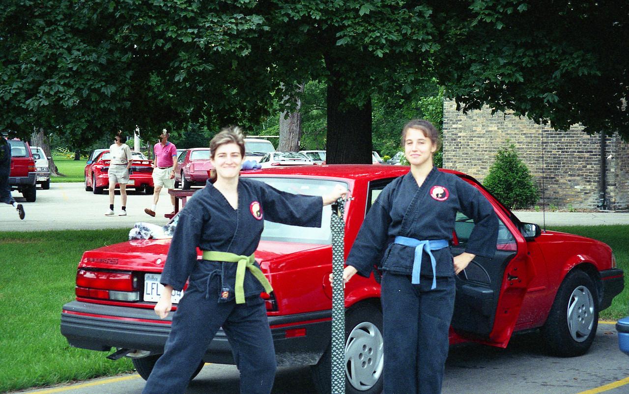 July 9, 1994 workout at Lake Michigan, Kenosha, WI Barb, Kimberly