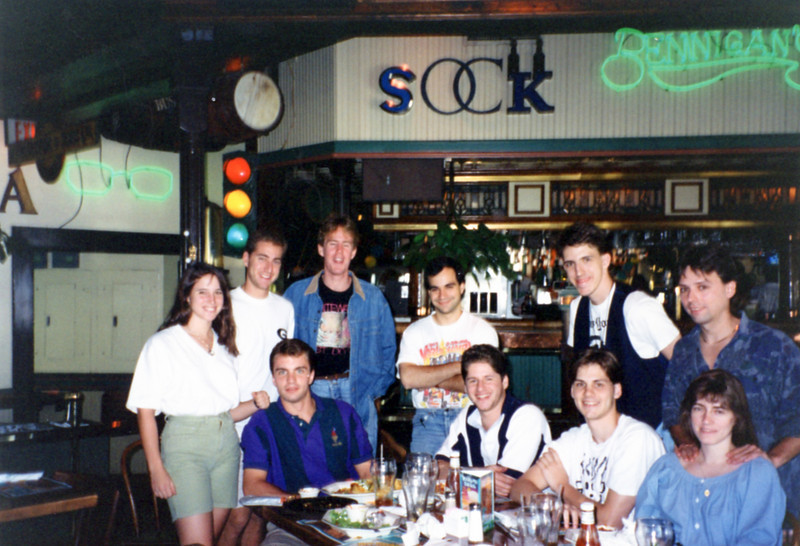 October 1993<br /> Front row: Eric, John, Sean, Barb<br /> Back Row: Kimberly, Sheldon, Brian, Jim, Todd, Roger