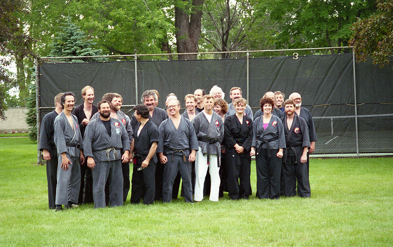 July 9, 1994 Shodans Yin Yang Do<br /> First Row: Al Gomez, Rick Cesario, Elio Covelli, Tim Hillary, Jim St, Pierre, Stephanie Weyers, Jackie O'Connell, Brendan O'Connell<br /> Second Row: Mark Algiers, Bob Okray, Chuck St. Pierre, Al Ferguson, Al Reingold, Linda St. Pierre, Rick Halverson, Ron Zeith, Dick Bruno, Dale Pauly<br /> Third Row: Dave Boehm, Larry Davis, Joe Ferraro, Lynn Philyaw