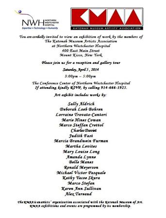 Karen Ann Sullivan has five images in this exhibit.<br /> Katonah Museum of Art Artist's Association Exhibit <br /> @ Northern Westchester Hospital Center<br /> Mt. Kisco, N.Y. - April - September 2014