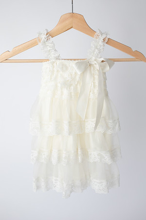 Warm White Boho Dress Size: Toddler (12-18 months) FRONT