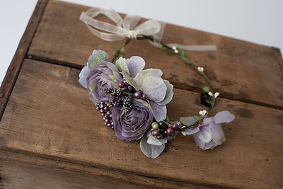 Lavender Flower Headband