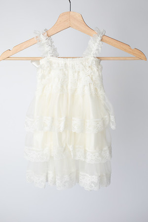 Warm White Boho Dress Size: Toddler (12-18 months) BACK