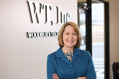 Karen Woodbury, Woodbury Technologies, featured in Spring 2018 Weber State University Alumni Magazine, January 11, 2018, photographer: Zac Williams