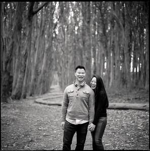 Karen and Matt Engagement Black and White