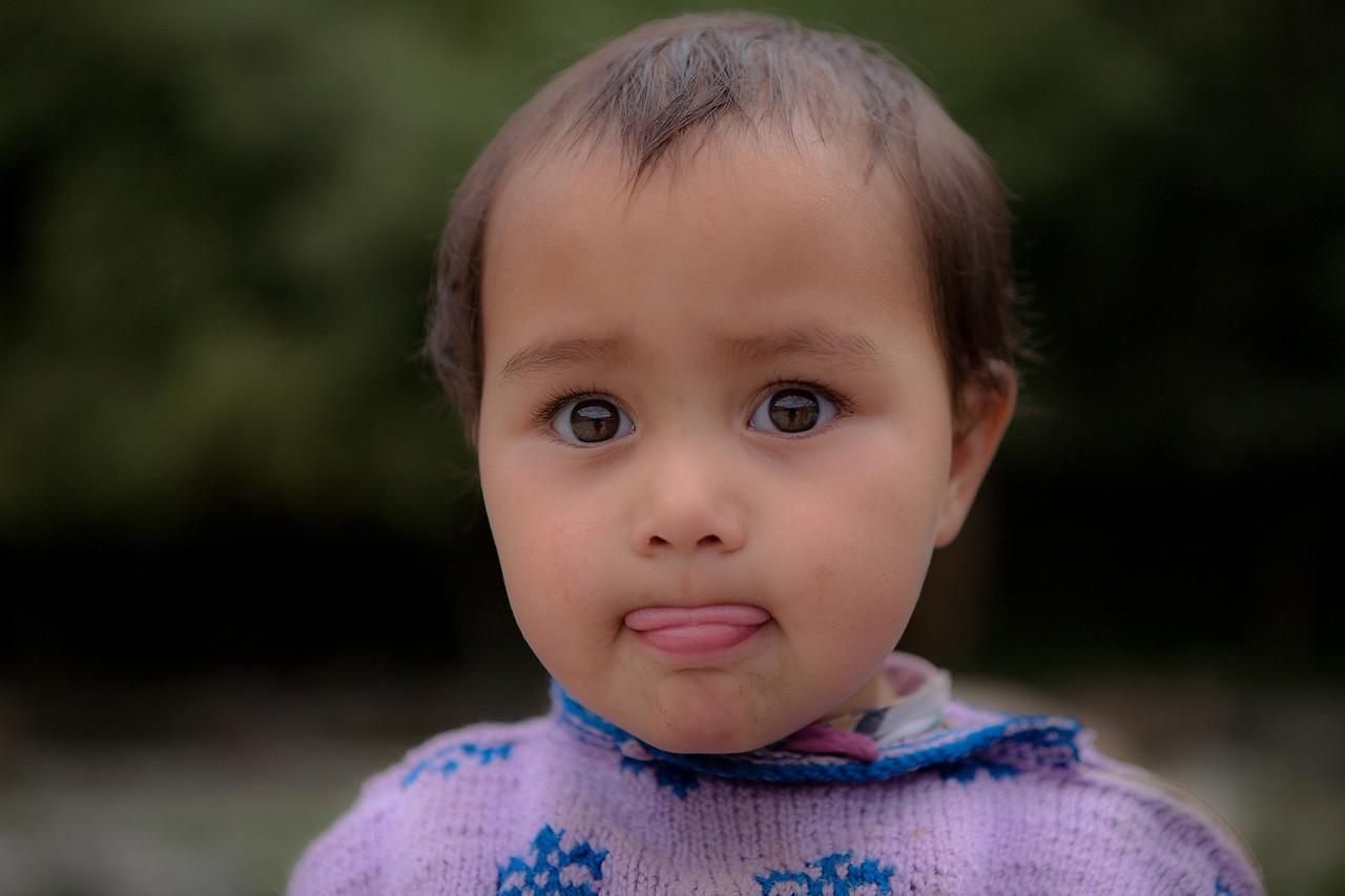 Baby Anjum at Dras near Kargil, India